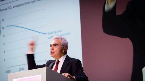 Fatih Birol, sjef i Det internasjonale energibyrået (IEA). Her på Equinors høstkonferanse i fjor.