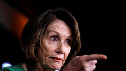 Nancy Pelosi sparte ikke på kruttet under et møte i Det hvite hus onsdag.