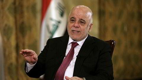 Iraks statsminister Haider al-Abadi under et intervju lørdag hvor han ber Kurdistan kaste planen om å holde en folkeavstemning om selvstendighet.