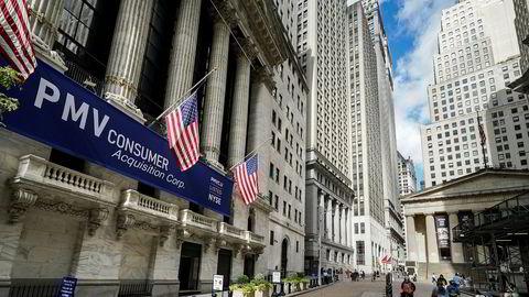 New York-børsen avbildet tidlig i oktober.