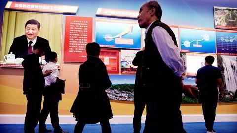 I forbindelse med det kinesiske kommunistpartiets kongress er det egen utstilling som viser president Xi Jinpings meritter – blant annet en fortsatt høy økonomisk vekst. Veksten var stabil på 6,8 prosent i siste kvartal – som ventet, ifølge offisielle statistikker.