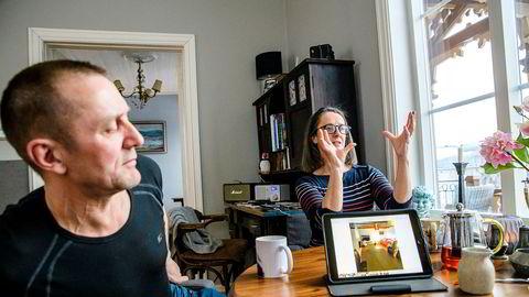 Sally Parkinson og Knut Roger Hansen i Tromsø leide ut over 90 ganger via Airbnb i fjor.