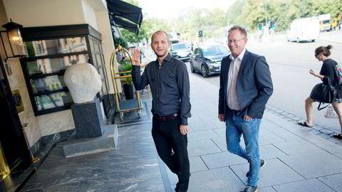 Konsernsjef Robin Reed (t.v) og medgründer Frode Fagerli i Gaming Innovation Group.