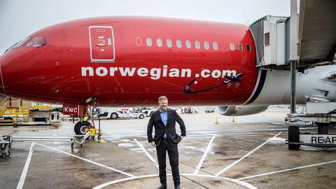 Konsernsjef Jacob Schram i Norwegian opplever et veldig kursfall denne uken.