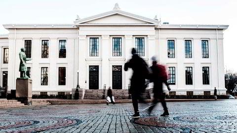 Det juridiske fakultet ved Universitetet i Oslo. Her har 18 av 20 høyesterettsdommere tatt sin utdanning.