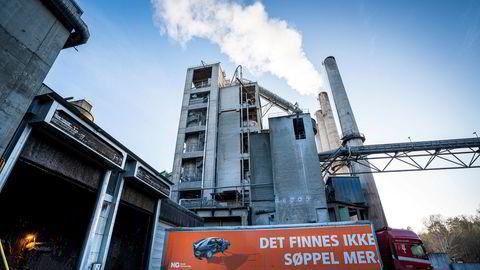 Sementprodusenten Norcem i Brevik i Telemark er et av de to anleggene som inngår i prosjektet om norsk karbonfangst og -lagring.