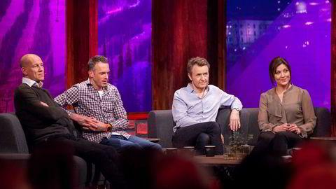 Henrik Elvestad, Anders Aukland, Fredrik Skavlan og Liv Grete Skjelbred var gjester i program nummer to av «OL-kveld» på TVNorge.