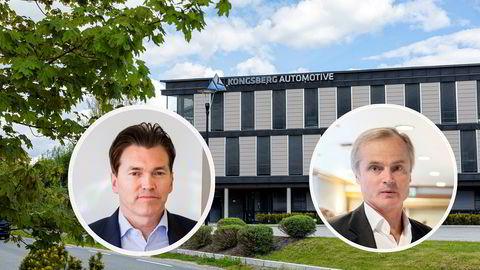 Øystein Stray Spetalen (til høyre) og Arne Fredly  tok begge del i den rettede emisjonen i Kongsberg Automotive.