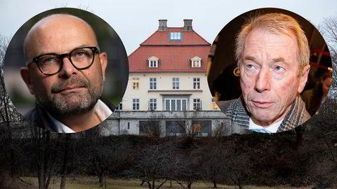 Etter to måneders krangel og en stevning har Jens Ulltveit-Moe (til høyre) gått med på å selge Fornebu Hovedgård for 65 millioner kroner til selskapet til eiendomsutvikler Terje Tinholt, Stti Holding.