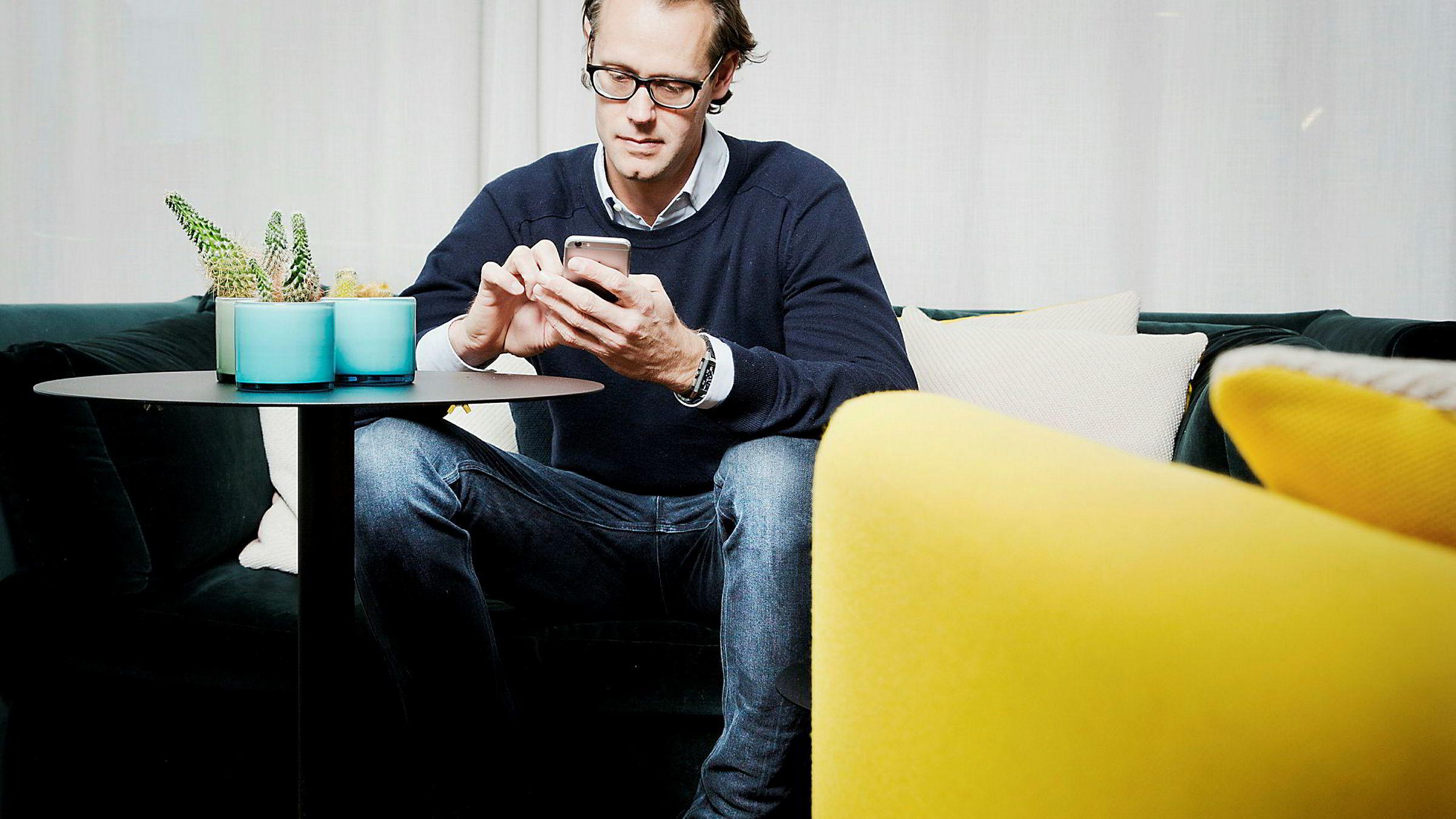 Gründer Jacob de Geer er blitt milliardær på iZettle, som gjør mobiler og nettbrett til butikksystemer og betalingsterminaler ved hjelp av en kortleser.