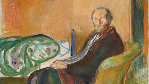 Edvard Munch brukte tiden i karantene under spanskesyken i 1919 til å male dette selvportrettet.