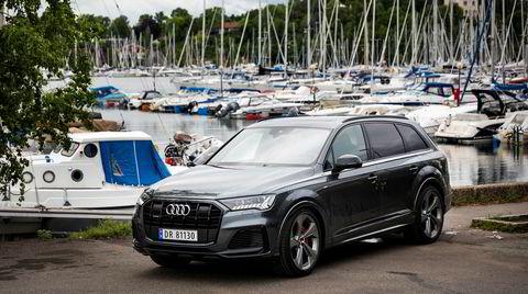 Selv om Audi Q7 er en gigant, må den finne seg i å leve i skyggen av sin helelektriske bror Audi E-tron.