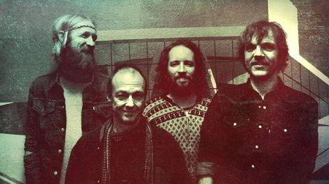 1970-årene tok aldri slutt for musikerne i Needlepoint: Olaf Olsen (fra venstre), Bjørn Klakegg, David Wallumrød og Nikolai Hængsle.
