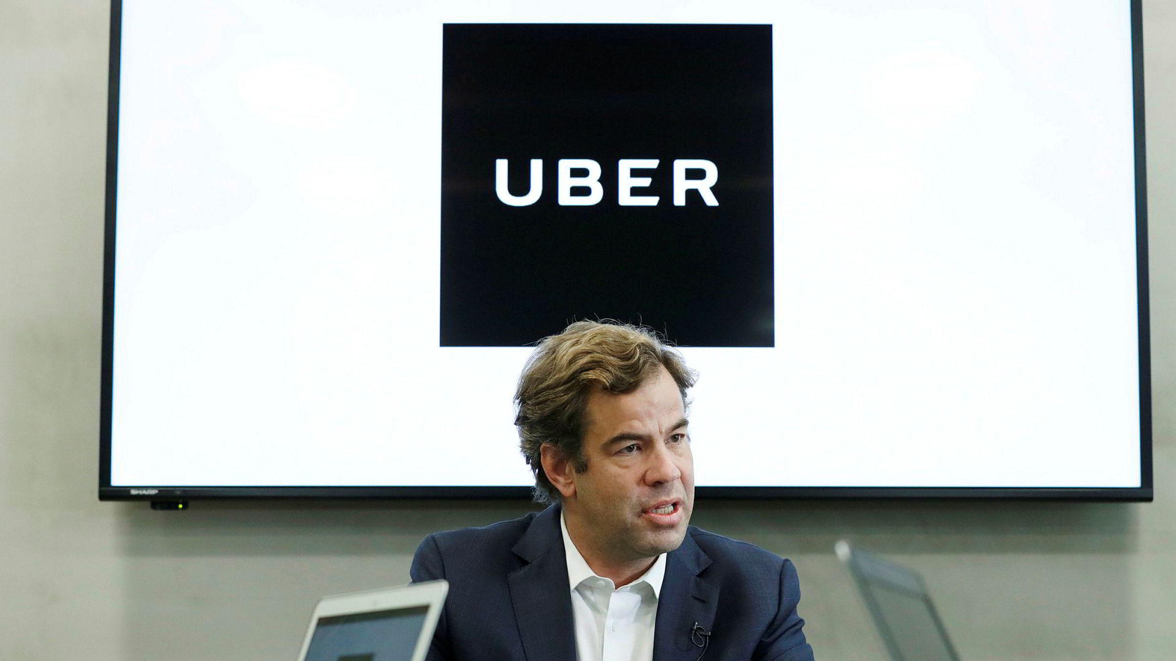 Japanske Softbank har bygd et global transportdelingsnettverk. Nå forsøker selskapet å kjøpe aksjer fra Ubers ansatte – til kraftig rabatt. Ubers Asia-sjef Brooks Entwistle opplyste om interessen fra Softbank overfor Reuters mandag,