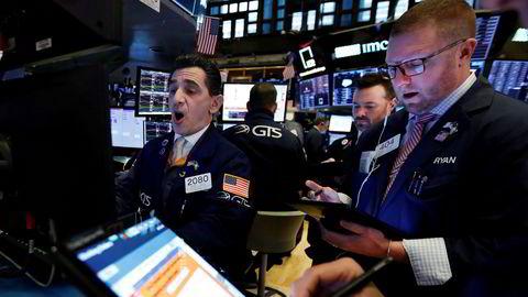Det var dårlig stemning på de amerikanske børsene mandag kveld. Her fra New York-børsen (Nyse).