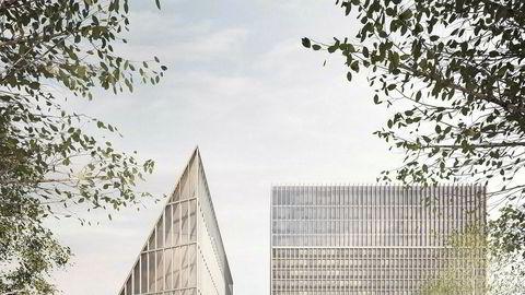 Slik skal det nye regjeringskvartalet se ut. Det er ikke kultur- og bevaringsforståelse regjeringen signaliserer når den vil rive Y-blokken, skriver byantikvar Janne Wilberg.