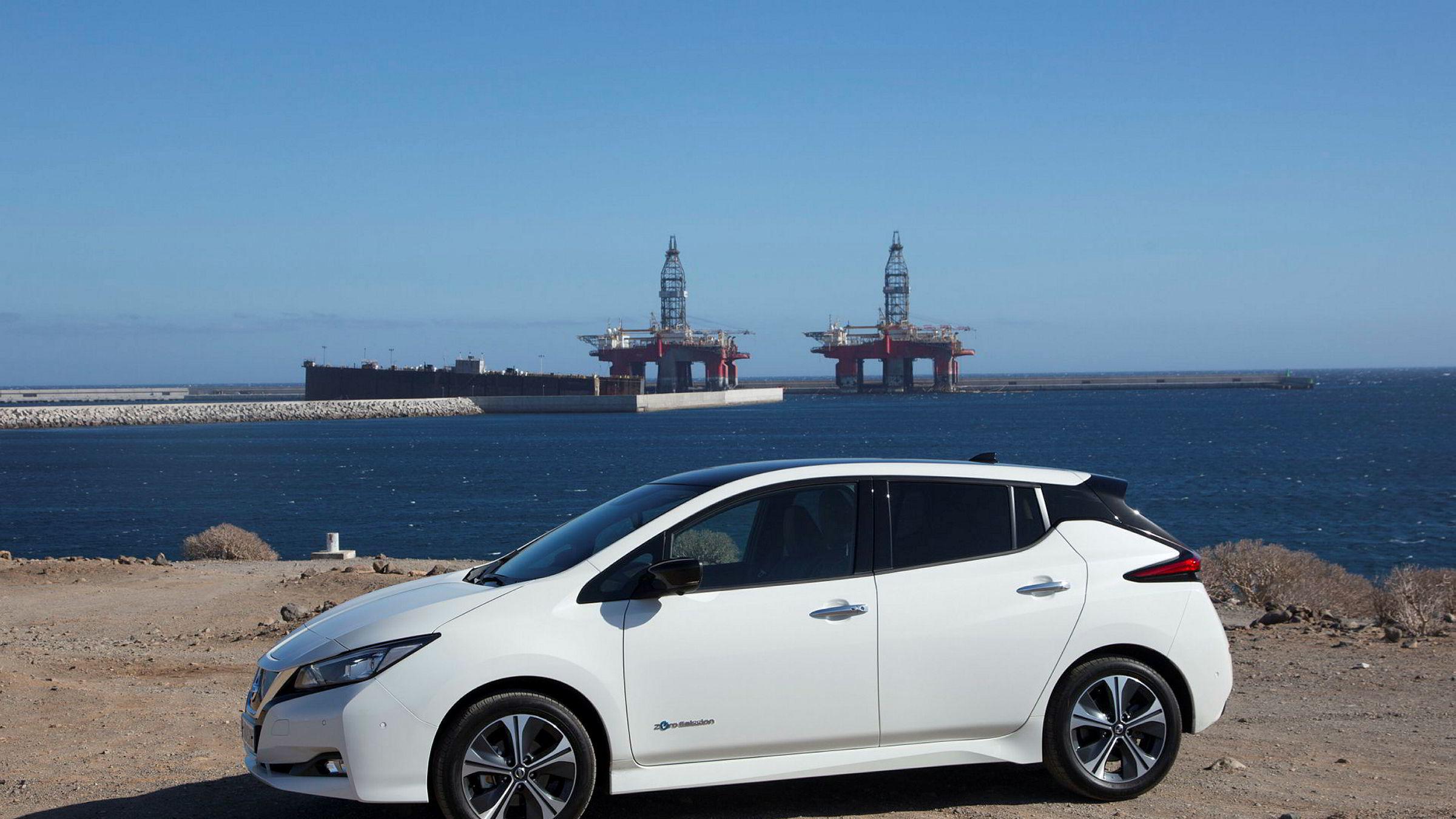 Med nye Nissan Leaf blir det mindre behov for oljeboring i fremtiden.