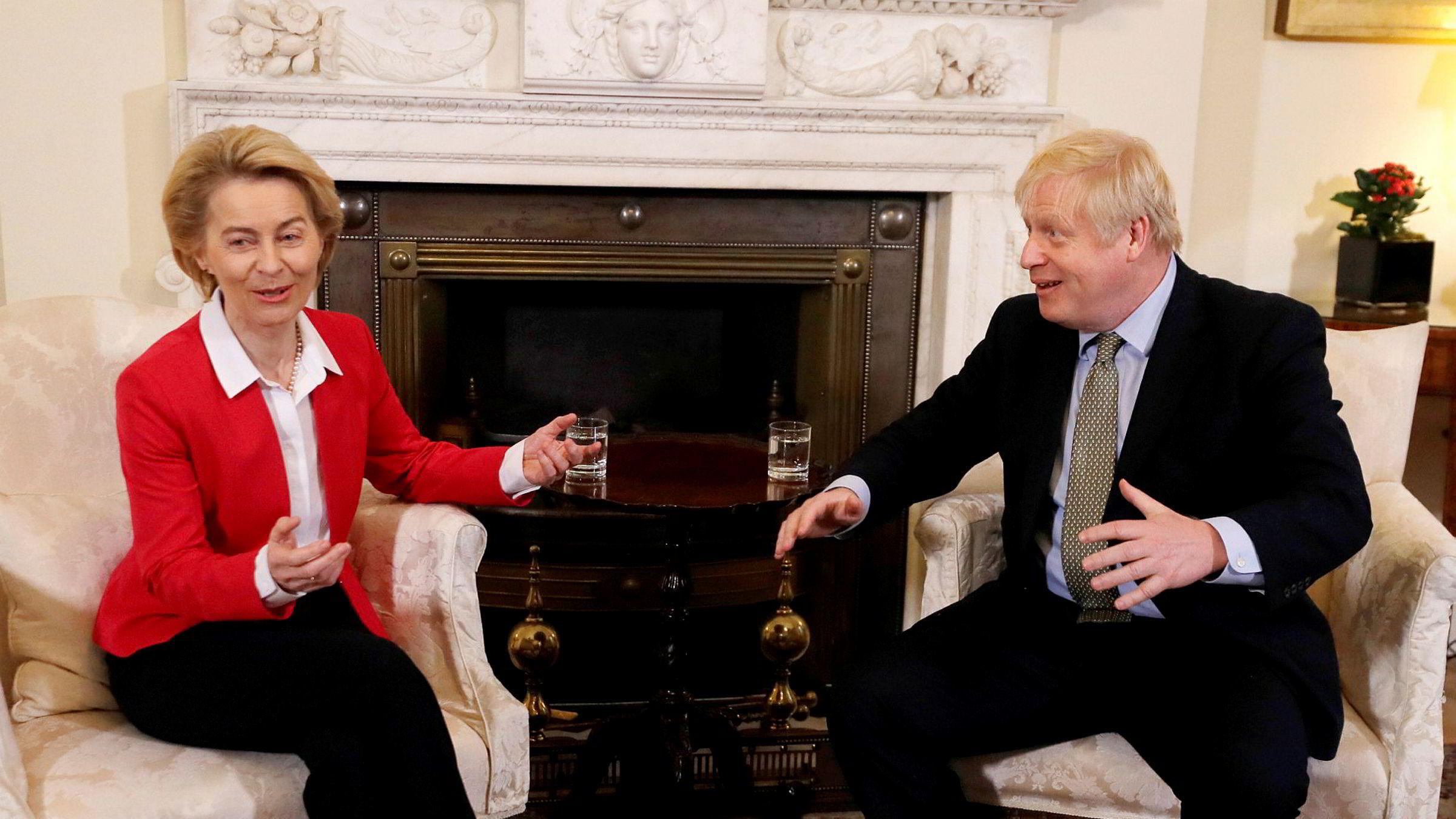 Britenes statsminister Boris Johnson møtte Europakommisjonens president Ursula von der Leyen i Downing Street i London.