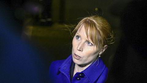 Partileder for Centern, Annie Lööf, mener tre statsråder i Sverige må gå av som følge av IT-skandalen som er under opprulling.Foto: Maja Suslin / NTB scanpix
