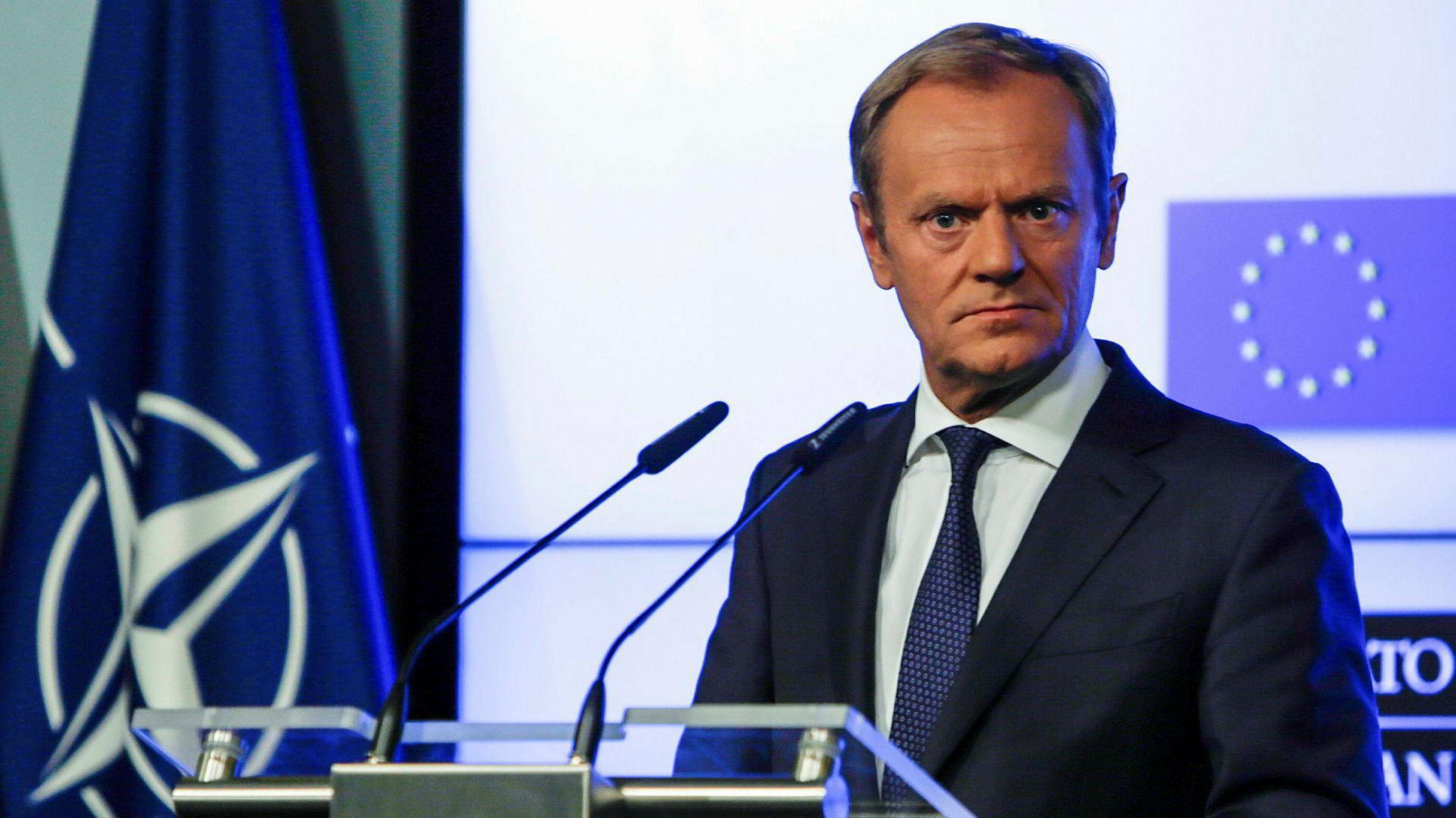 EU-president Donald Tusk ber USA, Russland og Kina om å forhindre en ødeleggende handelskrig.