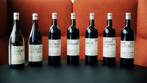 Amerikanske Ridge laget strålende viner i både 2014 og 2015.