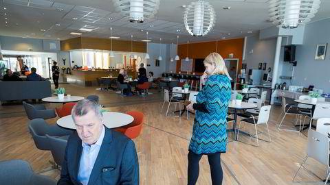 Blindeforbundet generalsekretær Arnt Holte (til venstre) kjenner seg bare delvis igjen i beskrivelsen forbundsleder Unn Ljøner Hagen gir av den dårlige organisasjonskulturen i Blindeforbundet.