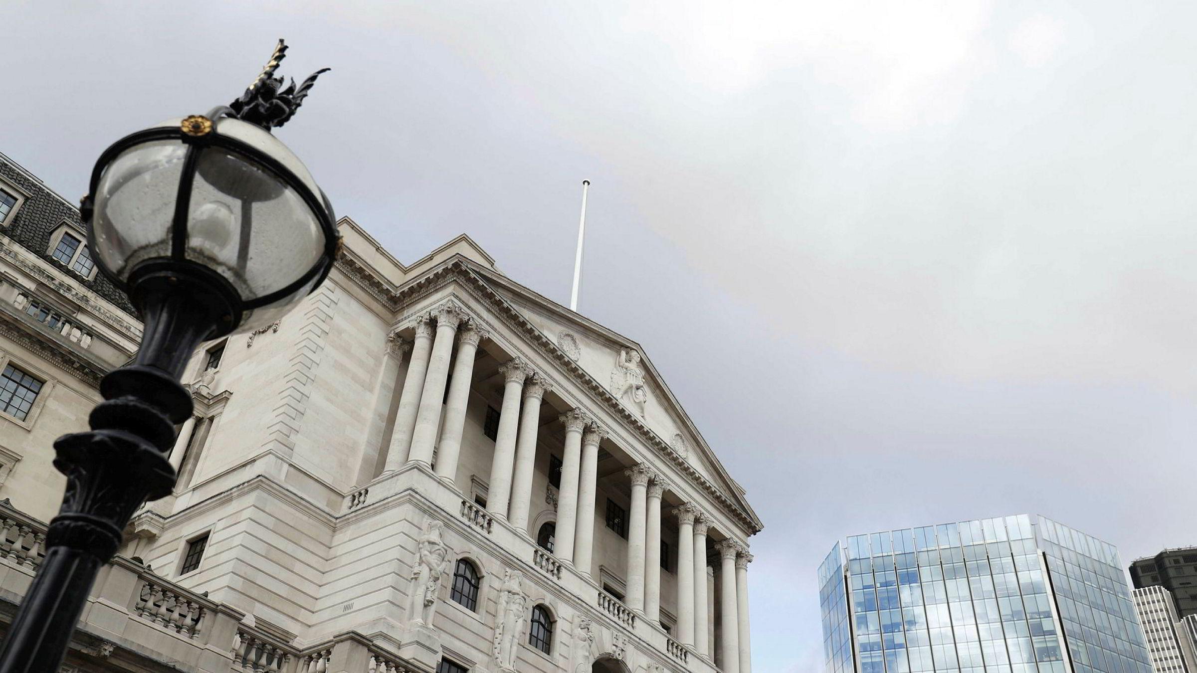 Det britiske pundet har falt til sitt laveste nivå siden 1985. Her fra bygningen som huser den britiske sentralbanken.