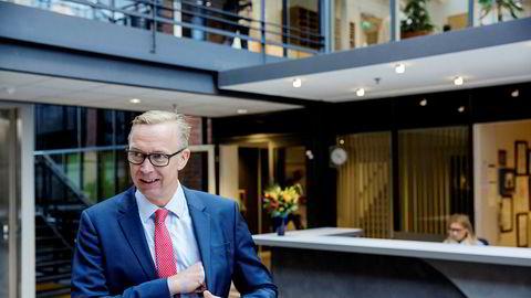 Tomra-sjef Stefan Ranstrand kan glede seg over å ha fått en signalkontrakt i Australia gjennom et joint venture med Cleanaway. Foto: Fredrik Bjerknes ---