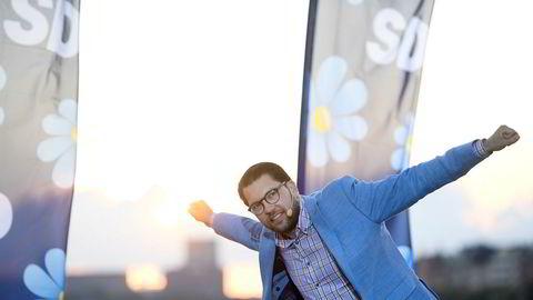 Sverigedemokraternas partileder Jimmie Åkesson seiler på en medgangsbølge.