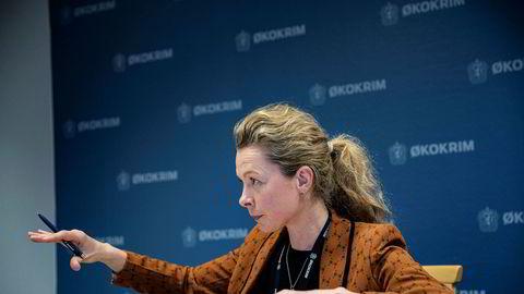 Fungerende Økokrimsjef Hedvig Moe forteller at de hadde fått samtykke fra DNB til å gå ut med informasjonen om etterforskningen.