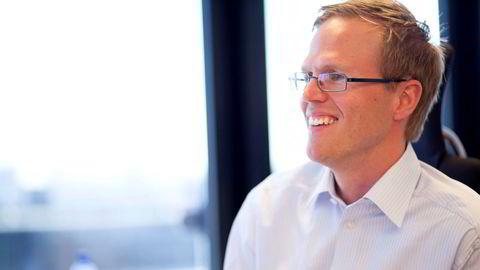 Assisterende banksjef Alexander Berg-Larsen (41) i Sandnes Sparebank kan glise over gevinst.