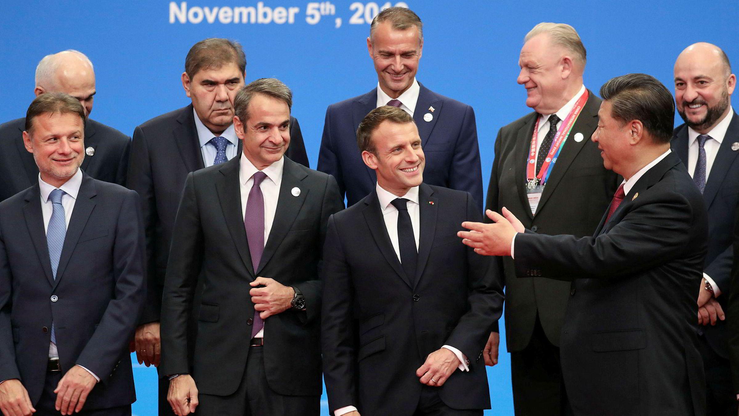 Kinas president Xi Hinping hadde invitert sin franske kollega Emmanuel Macron til åpniingen av China International Import Expo i Shanghai tirsdag. President Xi lover å senke importtoll og gi økt markedstilgang til det kinesiske markedet.