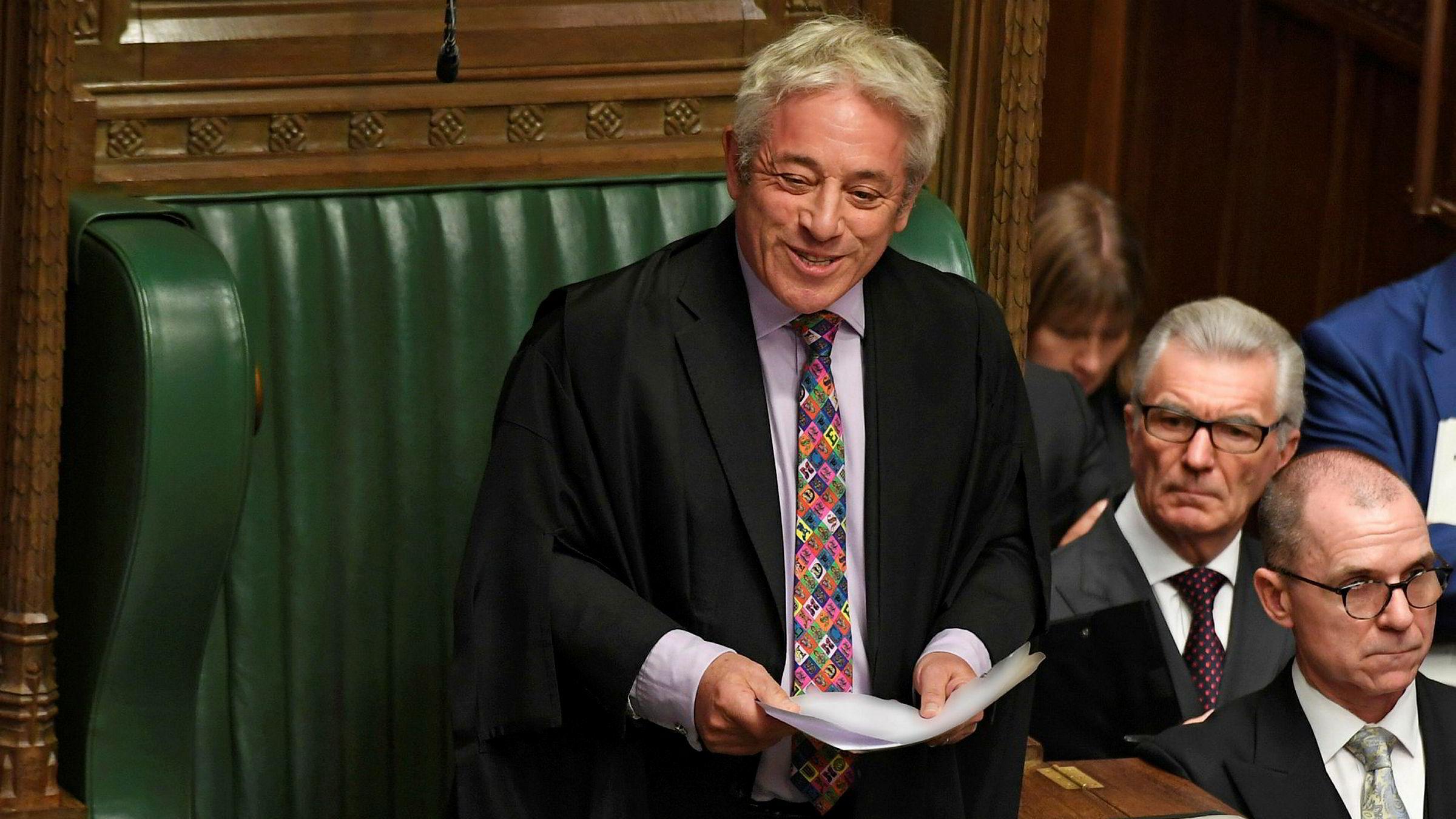 Fredag går han av. I kveld annonserer Parlament-speaker John Bercow for kanskje siste gang om «the ayes» eller «the nays have it» i avstemning om når britene skal holde nyvalget som kan avgjøre brexit.