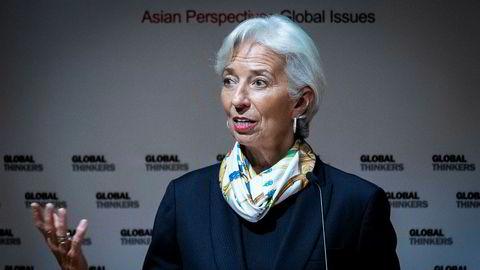 IMF-sjef Christine Lagarde advarer mot proteksjonisme.