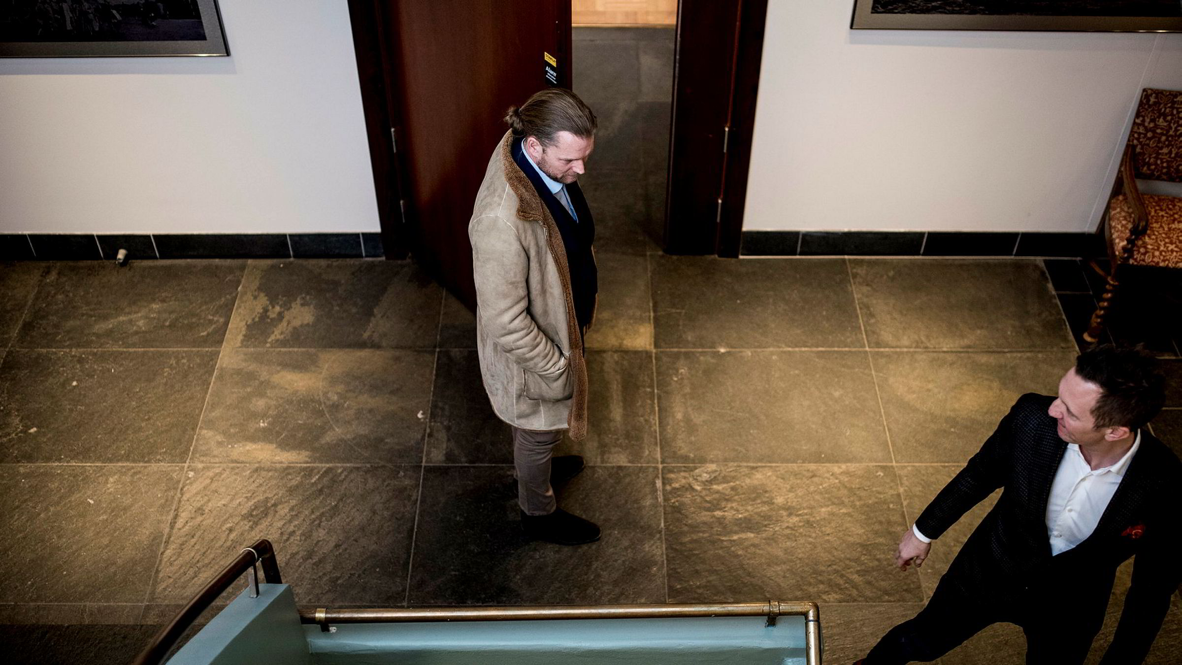 Investor og Smedvig-arving Peter Smedvig Hagland (til venstre) har ikke mye til overs for eiendomsinvestor og Acta-gründer Alfred Ydstebø som saksøker ham og to kompanjonger for 130 millioner kroner. Onsdag møtte Smedvig Hagland i retten med kompanjong Kjetil Andersen (til høyre).