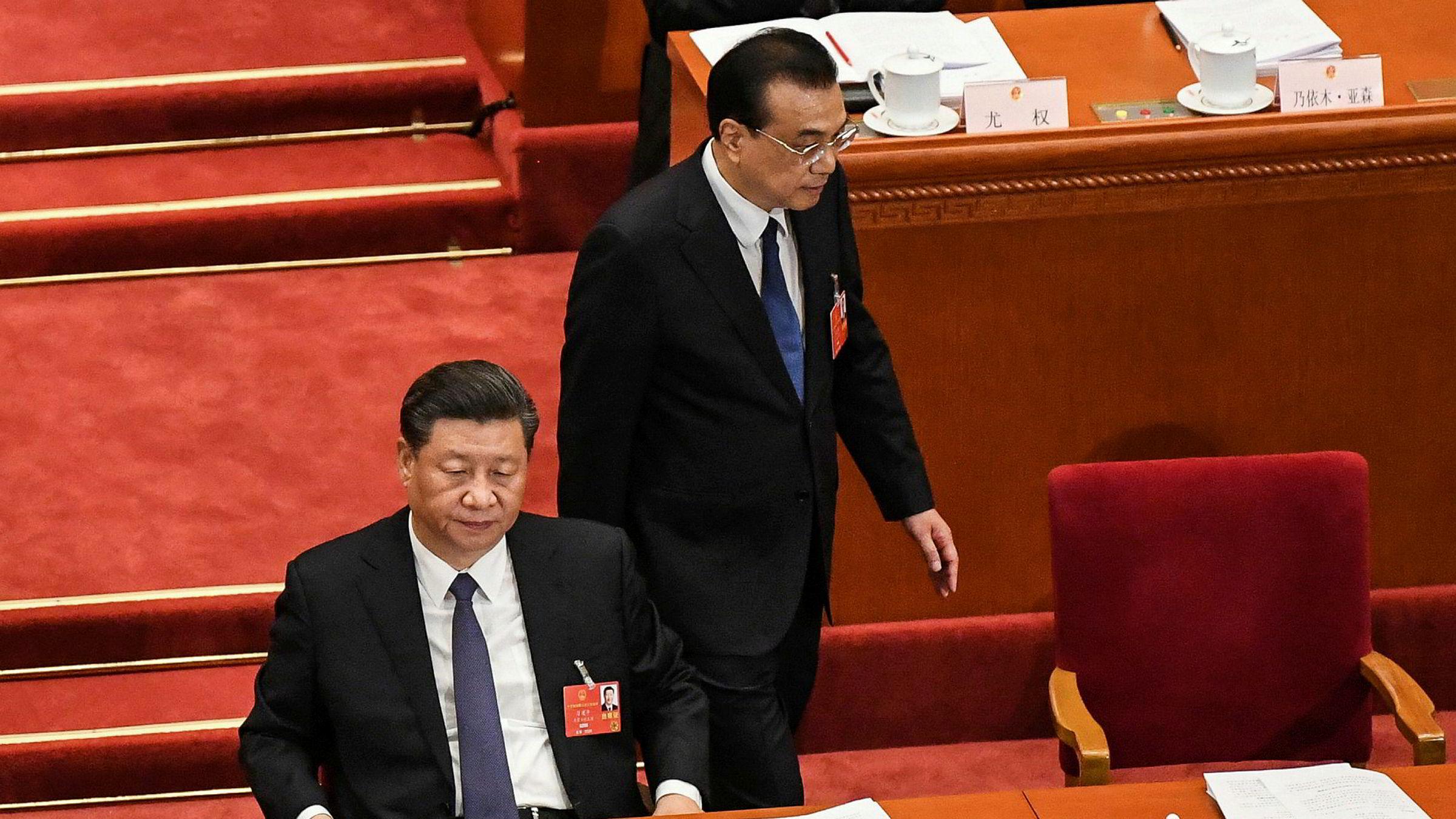 Under ledelse av Xi Jinping vil Kinas ikke spesielt demokratiske lovgivende forsamling gjøre Hongkong mindre demokratisk. Her Xi på Folkekongressen for noen dager siden.