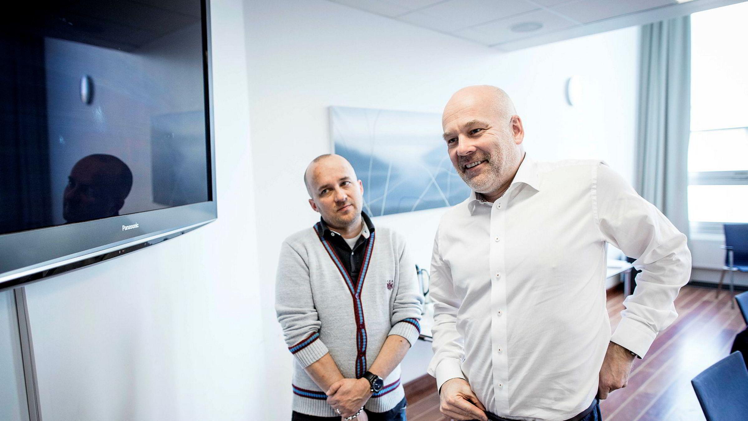 Analysesjef Kristian Tolonen og kringkastingssjef Thor Gjermund Eriksen opplever at flere av NRKs største satsinger på lineær-tv ikke gjør det like godt på nett-tv.