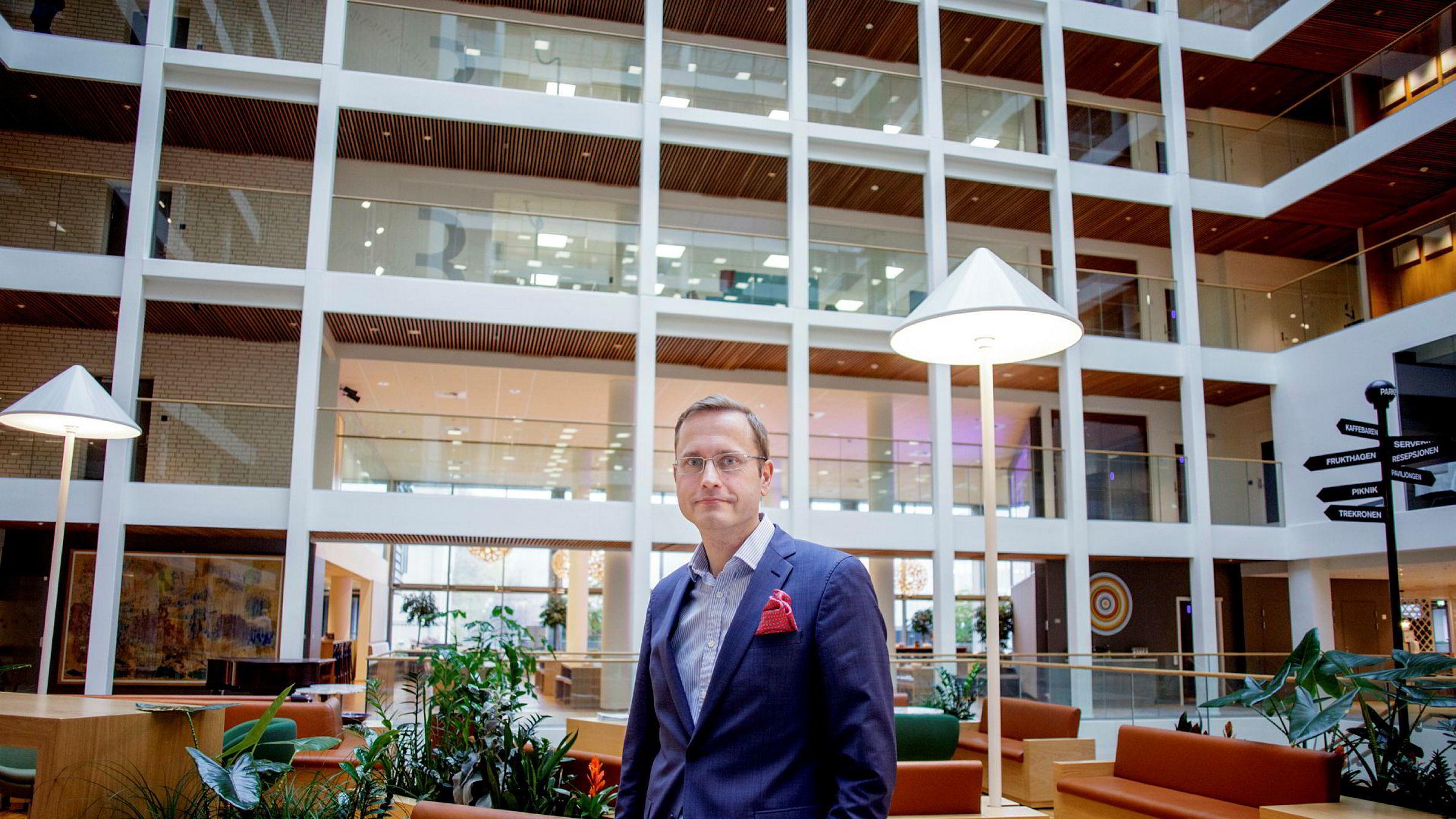 Nordea kjøper Gjensidige Bank. Avbildet er Nordea Norge-sjef Snorre Storset.