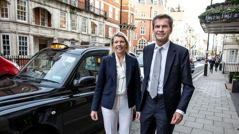 DNB-sjef Kjerstin Braathen og finansdirektør Ottar Ertzeid er i London for å legge frem finansielle mål frem mot 2022.