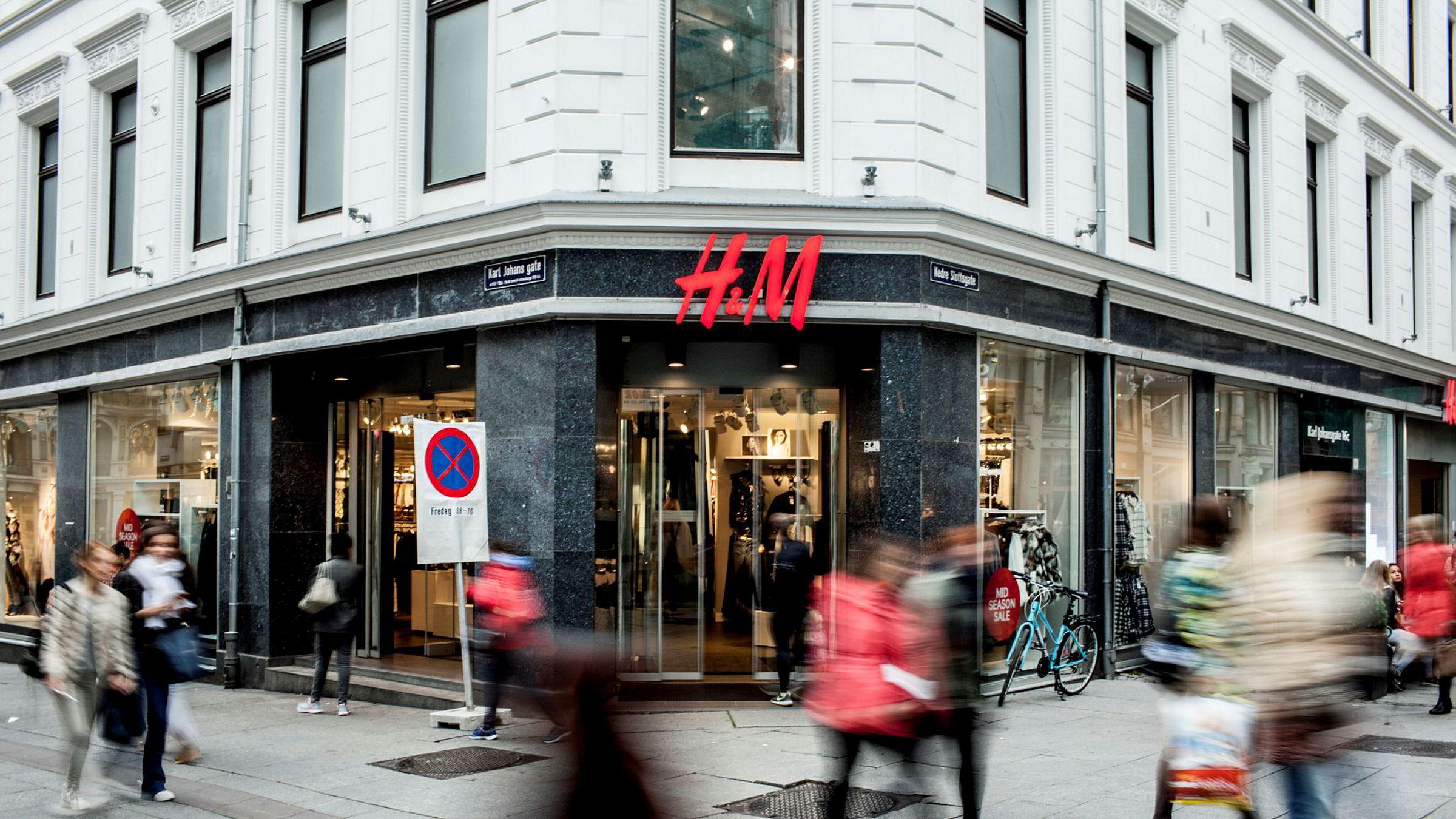 Hennes & Mauritz-butikken på Karl Johan.
