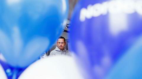 Nordeas norgessjef Snorre Storset feiret Vipps-samarbeid i forrige uke. Digitaliseringen av banken fører til færre ansatte.