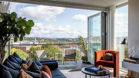 Prisantydningen på toppetasjeleiligheten i Oslo lå på 146.000 kroner per kvadratmeter.