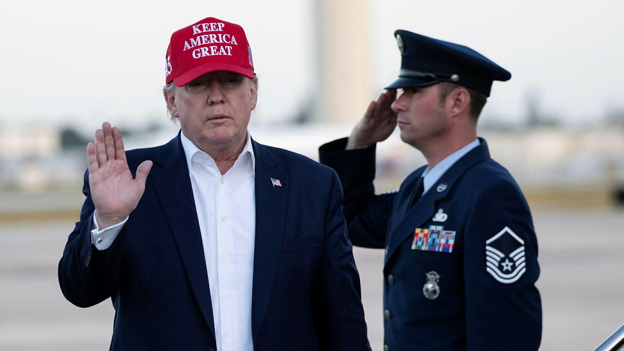 Donald Trump deltar ikke i kongresshøringene om riksrett mot ham som starter onsdag.