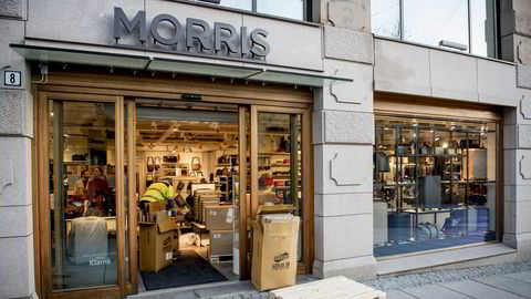 Veske- og koffertbutikkjeden Morris' butikk i Storgata, Oslo.