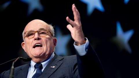 President Donald Trumps personlige advokat Rudy Giuliani vil ha regimeskifte i Iran, noe han slo fast under en tale til den omstridte iranske eksilgruppen Mujahedin-e-Khalq i Paris lørdag.