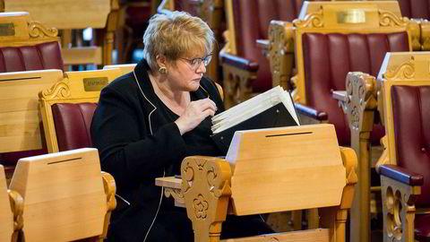 Kultur- og idrettsminister Trine Skei Grande under spontanspørretimen.