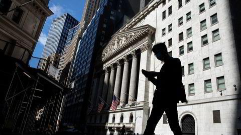 Vi står overfor paradokset at det er en rekke med finanskriser vi kan takke for at finansbransjen er så stor som den er. Her, New York Stock Exchange på Wall Street.