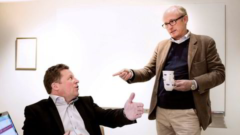 Christen Ager-Hanssen (til venstre) med kollega Mats Qviberg.