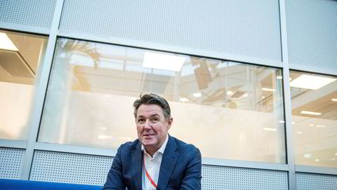 Geir Karlsen møtte DN på Fornebu onsdag morgen.
