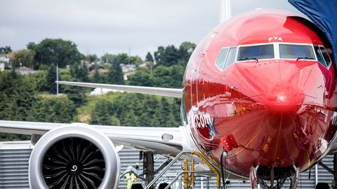 Norwegians første 737 Max på Boeing Delivery Center i Seattle.